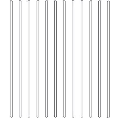 12 Stücke Glas Rührstab mit Beiden Enden Rund (12 Zoll/ 300 mm)
