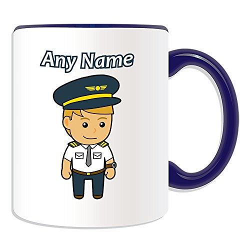 Personalisiertes Geschenk–Pilot/Aviator Tasse (Karriere Design Thema, Farbe...