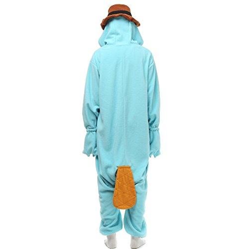 MissFox Adulte Animal Style Kigurumi Anime Pyjamas Onesie Cospaly Soirée de Déguisement Ornithorynque (Polaire toison)