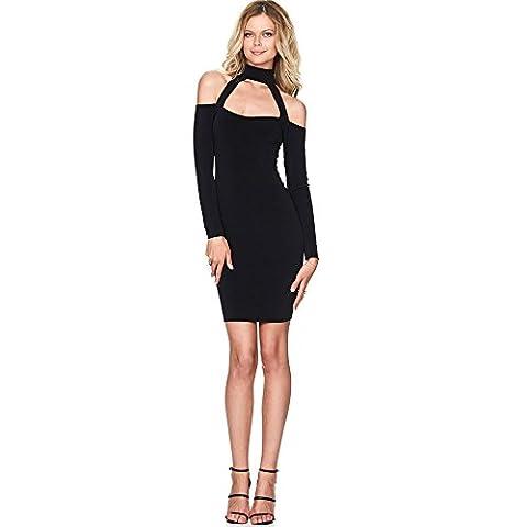 Xizi Frauen Basic trägerlosen Bodycon Mini Tube Kleid Schwarz M (Calvin Klein Hemdkleid)