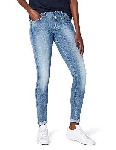 G-STAR RAW Damen Lynn Mid-Waist Skinny Jeans, Blau (lt Aged 6745-424), 27W / 30L - Fall Blaue Led