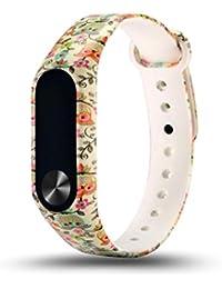 Malloom Patrón de moda joven TPU correa de reloj inteligente muñeca para Xiaomi Mi band 2 (I)