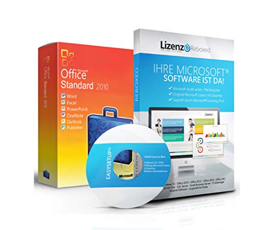 Original Microsoft® Office 2010 Standard Lizenzschlüssel + Lizenza ISO CD / DVD für 32 und 64 bit Deutsch inklusive Workstation 2016 für Office
