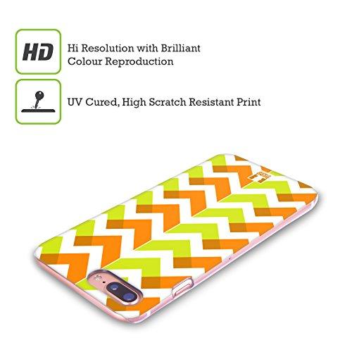 Head Case Designs Rosa Chevron Neon Cover Retro Rigida per Apple iPhone X Arancione E Verde Lime