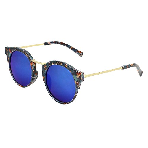 QUBE Women Club Master Sunglasses (Blue Floral Print)