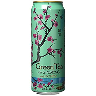 Arizona Green Tea with Ginseng and Honey 680 ml (Pack of 6)