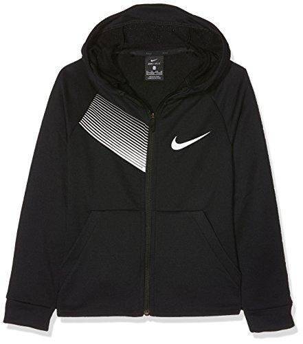 Nike Dry Jungen Jacke XS Schwarz/Weiß -