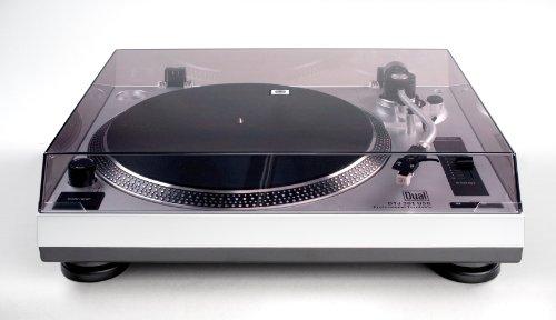 Dual DTJ 301 USB DJ-Plattenspieler (33/45 U/min, Pitch-Control, Magnet-Tonabnehmer-System, Nadelbeleuchtung, USB) silber -