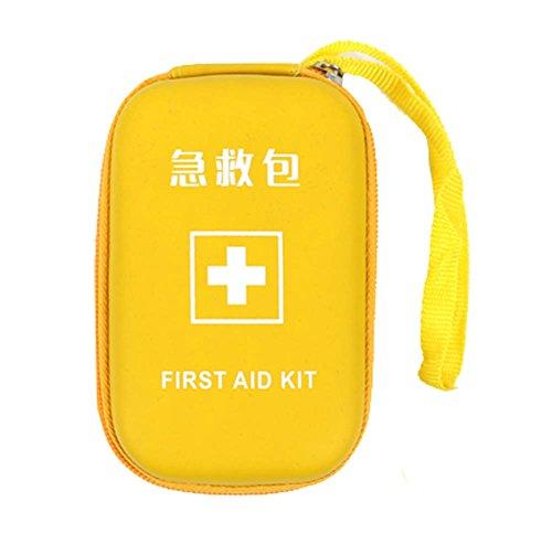 Outdoor Familie Mini Portable Kleine Erste Hilfe Kit Medizin Tasche, gelb