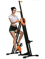 Simlive Vertical climbing cardio Exercise Machine pieghevole stepper Climber per palestra allenamento (UK stock), Orange