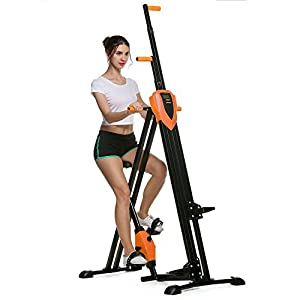 41TVDFGk0lL. SS300  - Simlive Vertical Climbing Cardio Exercise Machine Folding Stepper Climber for Home Gym Workout (UK Stock)