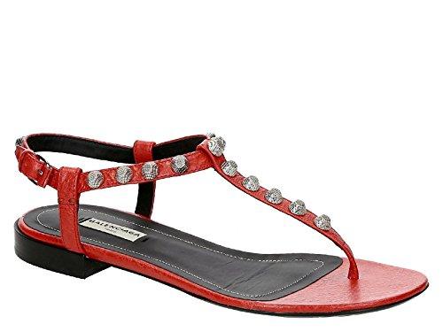Balenciaga Rosso Modello Codice Pelle Infradito WAD40 6415 acceso Acceso Rosso in 468020 Sandali r0P1qr