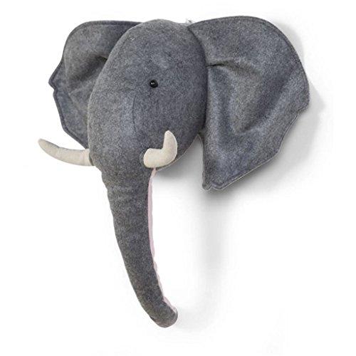 Ornament Kopf Filz Tier–Elefant
