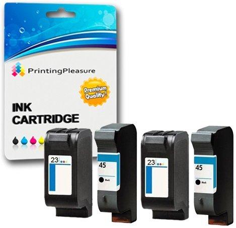 4 Compatibili HP 45 / HP 23 Cartucce d'inchiostro Sostituzione