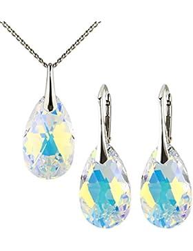 SET 16 Farben Luxus Ohrringe mit Swarovski Kristall SET Anhänger mit Swarovski Kristallen von m3crystal Stein...