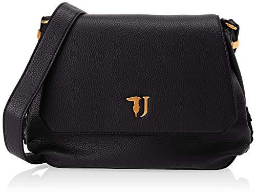 Trussardi Jeans Lavanda Shoulder Bag, Borsa a Tracolla Donna, Nero, 28x20x9 cm (W x H x L)