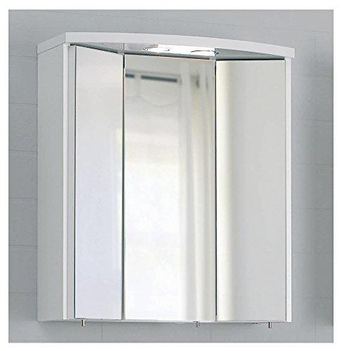 PELIPAL SMALL/MINIMO - 3D Spiegelschrank 55 cm, 3-türig, weiß, EEK: A+ (Spektrum A++ - A)