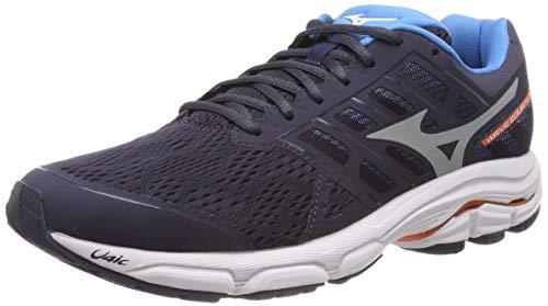 Mizuno wave equate 3, scarpe running uomo, nero (graphite/silver/brilliant blue 03), 43 eu