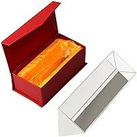 Siming Cristal Óptico Triangular Prisma, Cristal Refractor de 15 cm Triple Prisma para Enseñar Espectro de Luz Física