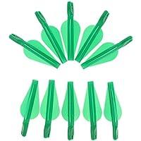D DOLITY 10 Unidades Nocks de Flechas Universal de Archero Compuesto Recurvo Duro - Verde