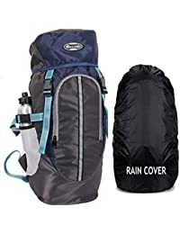 POLE STAR Hike Grey Rucksack with RAIN Cover/Trekking/Hiking BAGPACK/Backpack Bag