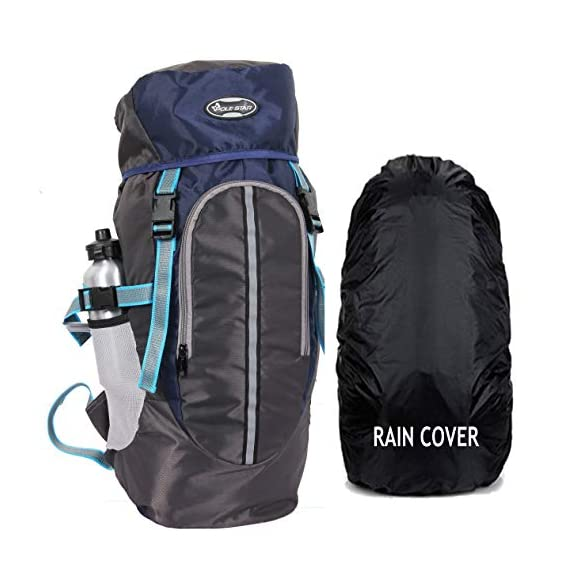 POLE STAR Hike Grey Rucksack with RAIN Cover/Trekking/Hiking BAGPACK/Backpack Bag