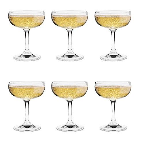 Argon Tableware Champagnerglas - 6er Geschenkpaket - 180 ml - 6,25 Unzen