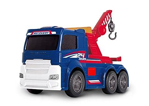 Dickie Toys 203302007 - Action Series Tow Truck, Abschleppwagen inklusive Batterien, 15 cm