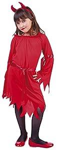 Rubies-S8294-M Disfraz 5-7 años Diablo Luci-Hell, Multicolor, M) (Rubie