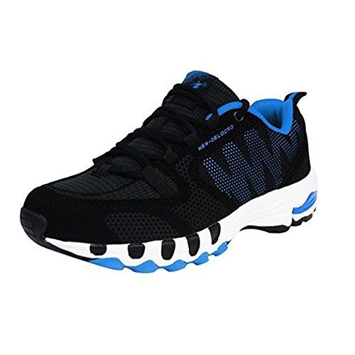 Delocrd, Scarpe da corsa uomo Black+Blue