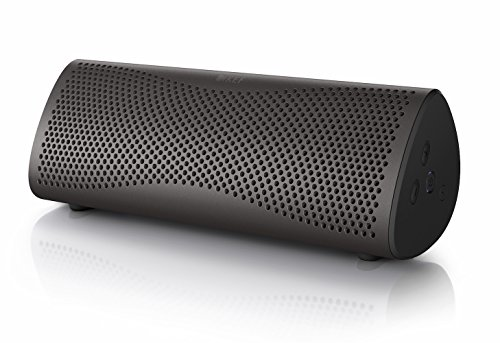 KEF MUO - Meilleures enceinte portable bluetooth - Gris Foncé | Enceinte portable | Enceinte extérieur | Meilleure enceinte Bluetooth pour PC et ordinateur portable | avec batterie longue durée.