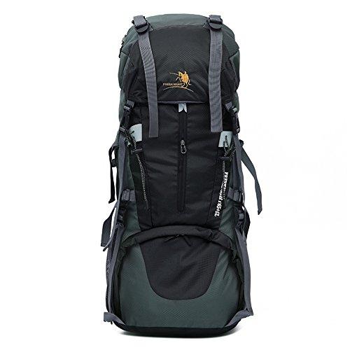 Gratis Knight Wandern Tasche Wasserabweisendes Nylon weichem Outdoor Tasche Unisex 65L + 5L hohen Schwarz
