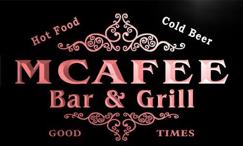 u29067-r-mcafee-family-name-bar-grill-home-beer-food-neon-sign-barlicht-neonlicht-lichtwerbung