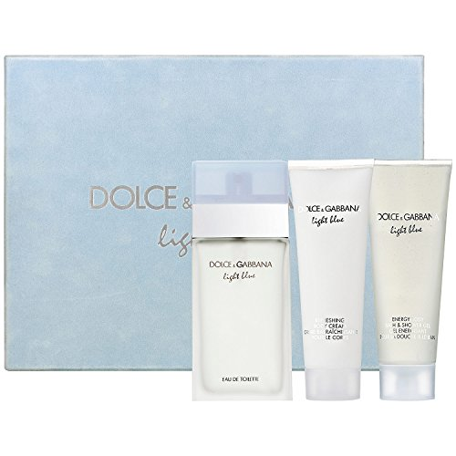 Dolce & Gabbana Light Blue femme / women, Geschenkset, 3er Pack ((100ml EDT, 100ml Refreshing Body Cream, 100ml Energy Body Bath & Shower Gel)) (Blue Gabbana Dolce Light Parfums)