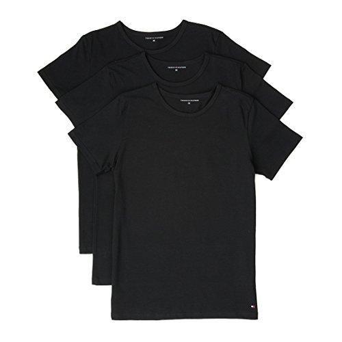 Tommy Hilfiger Herren T-Shirt im 3er Pack Black (85) XXL