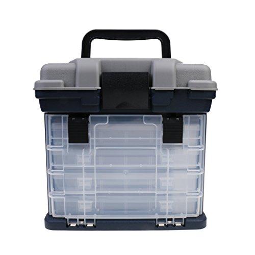Sharplace cassetto tackle box scatola pesca esche esche strumento di grande stoccaggio resistente agli urti