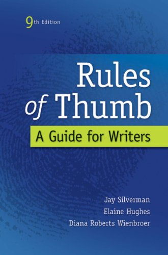 Rules of Thumb por Jay Silverman