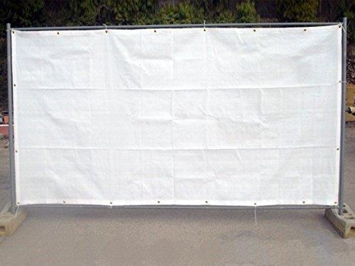 MAILLESTORE Filet de barrière de Chantier 130g/m² Blanc 1.76 x 3.41m