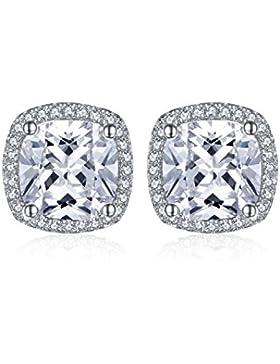 Jewelrypalace 10ct Prinzessin Schliff Kubik Zirkonia Verlobung Hochzeit Ohrring Ohrstecker 925 Sterling Silber