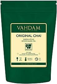 VAHDAM, Hojas de Té Chai Masala de la India (100 Tazas) | INGREDIENTES 100% NATURALES: Té Negro, Canela, Carda