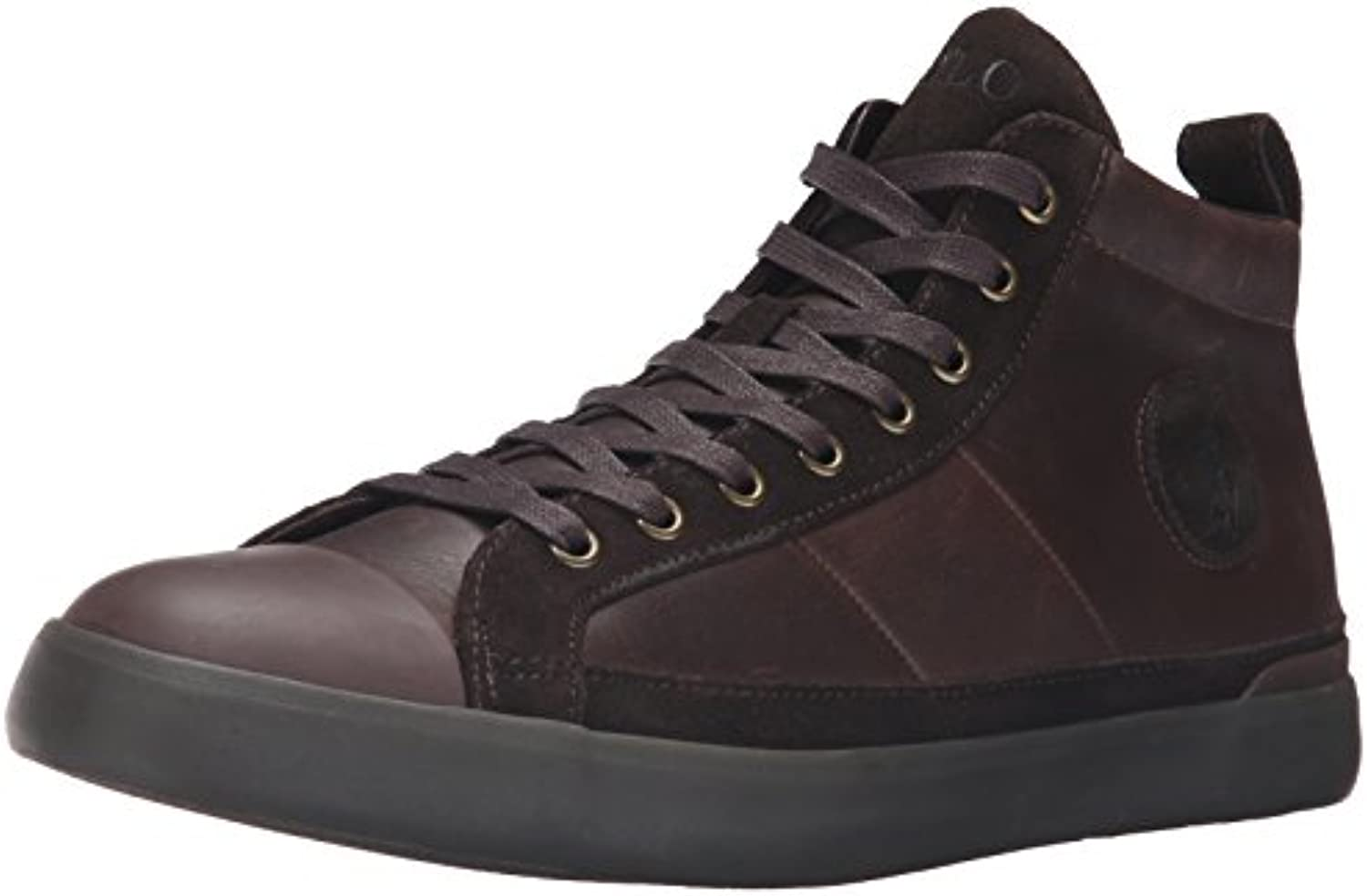 Ralph Lauren Mens Clarke Smithoil Sportside Leather Trainers