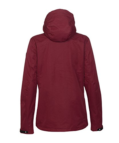 Michaelax-Fashion-Trade - Blouson - Gilet en maille - Uni - Manches Longues - Femme Dunkelrot (408)
