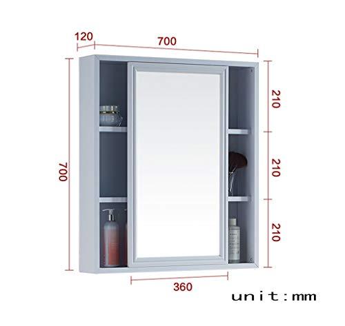 Floor Spiegelschrank (O&YQ Bad- / Küchenzubehör 700 X 700Mm, 800 * 700Mm Raum Aluminium Spiegelschrank Mode-Design Badezimmerspiegel, 800 * 700 * 120 mm)