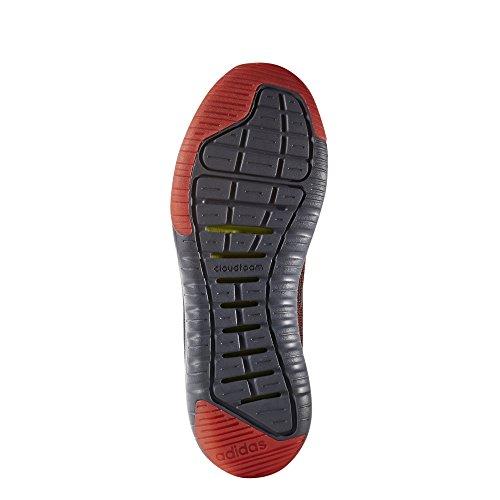adidas Cloudfoam Super Flex, Scarpe da Ginnastica Uomo Nero (Negbas/Negbas/Rojsol)
