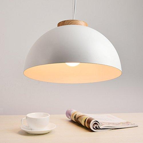 ... Modern Deckenlampe Moderne LED Pendelleuchten E27 Runde Weiße Holz  Esszimmer Licht Metall Lampenschirm Hängelampe Eisen Suspension ...