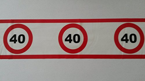Absperrband 40. Geburtstags-Deko-Party-rot-weiss-schwarz vom Sachsen Versand (Party-ideen Schwarz Geburtstag Weiß Und)