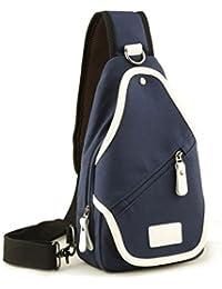 Sincere® paquete ocasional pecho / deportes al aire libre bolsa de mensajero / hombro cruzada paquete / pequeña mochila azul masculino