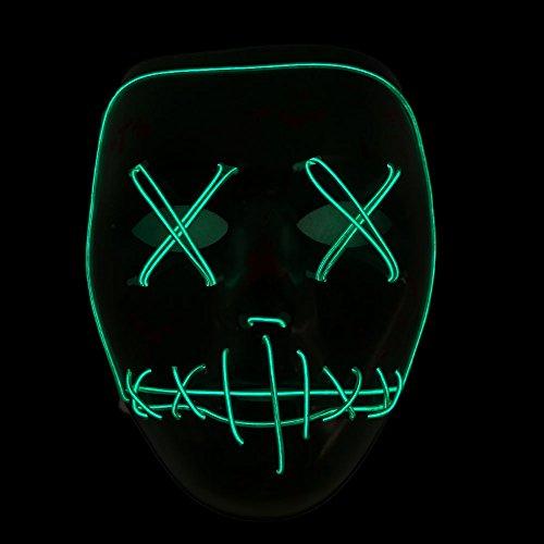 Bolange maschera incandescente confortevole modalità remota illuminazione colore-> verde
