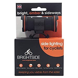 Brightside Compact USB Side Bicycle Light Amber Light