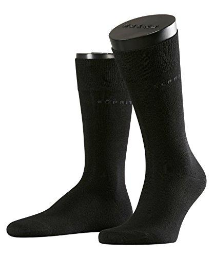 ESPRIT Herren Socken 17811 Basic SO, Doppelpack, Gr. 43/46, Schwarz (black 3000)